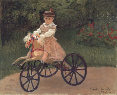 Jean Monet on his Mechanical Horse