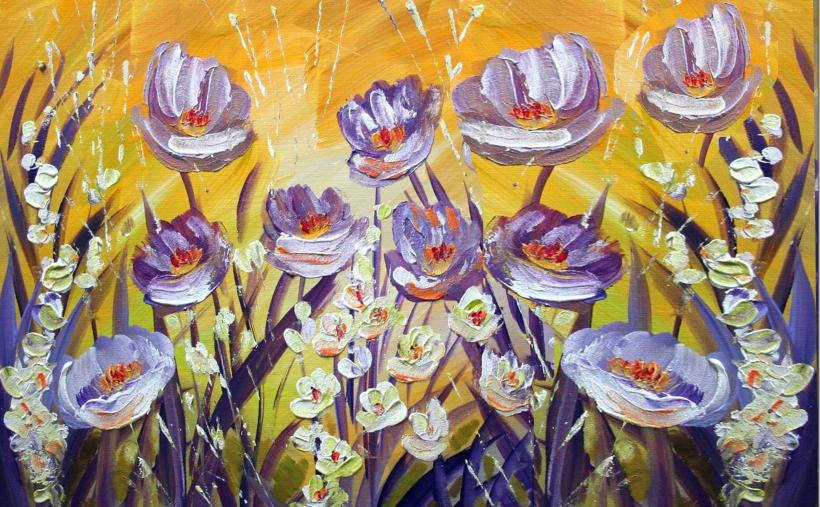 Dipinto fiori for Fiori di ciliegio dipinti